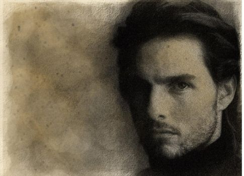 tom cruise antique Charcoal effect by makemylandingpages