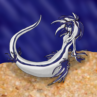 Blue Sea Slug Mermaid by Enchantedprey5280