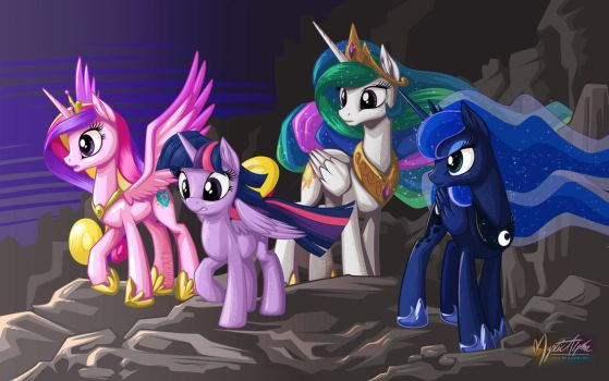 Rally of the Princesses by mysticalpha