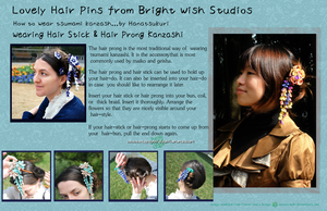 How To Wear Prong Kanzashi by hanatsukuri