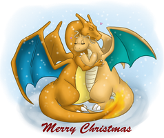 CharizardAndDragonite Christmas Love Contest by AdmiralNautilus