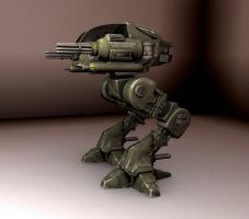 Yet another mech - textured by kazix