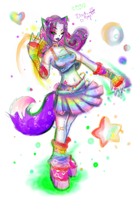 Raver Kandy girl by Druidic-Angels