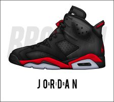 Air Jordan 6 'Infrared Sample' by BBoyKai91
