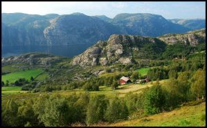 Looking down towards the fjord by jchanders