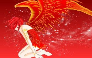 Anime Fire Angel Wallpaper by Dark-Scarlet-Rose