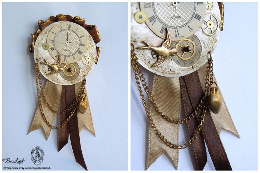 Steampunk Cotillion Brooch by BaziKotek