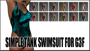 Simple Tank Swimsuit For Genesis 3 Female by sedartonfokcaj