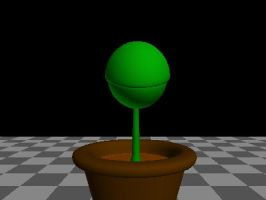 3D Thirsty Plant animation by lord-zed