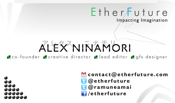 EtherFuture business card design by alexninamori
