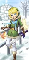 Red Link Blue Link Snow Link by MiraiParasol