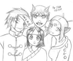 Happy Family of Monsters by Ixa-Chan