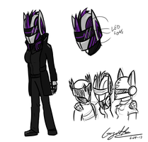 Daft punk OC/Persona concept by GingaAkam