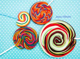 Colorful and funny candies 4 by JaqueOliveira