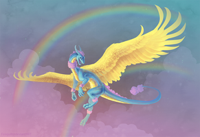 Happy Dragon Rainbow Extravaganza by Firequill
