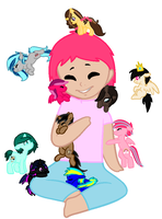 Me and my pony friends :D by deslove01