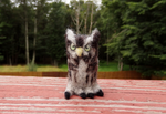 Needle Felted Eastern Screech Owl Soft Sculpture by DancingVulture