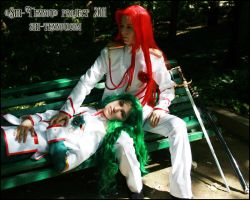 .Saionji and Touga. by Vaishravana