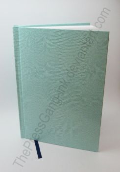 Mint Green Lizard Skin sketchbook by ThePressGang-ink