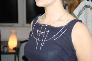 DSD: Wire-tube necklace by dcsnijders