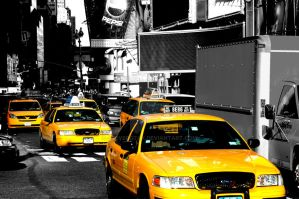 Taxi Times Square by steverotax