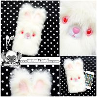 The Albino Blip BUNNY - Kawaii Phone Sleeve Case by TomodachiIsland