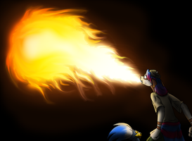 Iris uses FLAMETHROWER!! by coyotepack