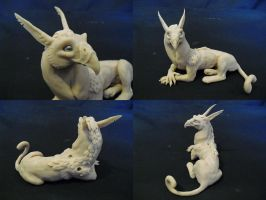 Gryphon Sculpture by Kazulgfox
