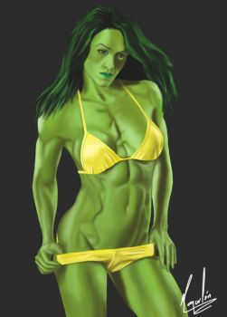 She-Hulk by Omacahtl