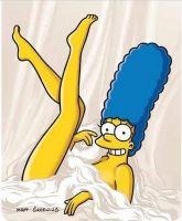 Playboy Marge Simpson by ravenapin