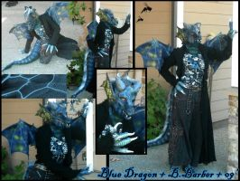 Blue Dragon collage by Magpieb0nes