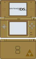 Nintendo DS Lite [Phantom Hourglass Gold] by BLUEamnesiac