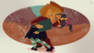 STOLEN KISS with Rancis Fluggerbutter x Vanellope by jackcrowder