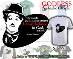 Godless Charlie Chaplin by TestingPointDesign