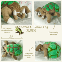 Baneling Plush by SilkenCat