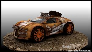 Rusty Bugatti Veyron 3d model by GDSWorld