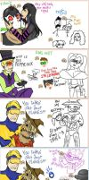 iScribble Session - Booster Gold and Scarecrows by DullVivid