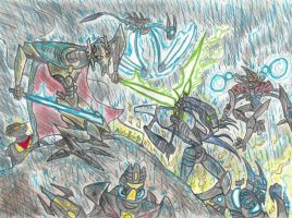 Battle for survival by Finjix