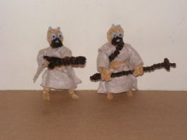 Tusken Raiders by fuzzyfigureguy