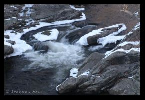 Snow Bordered Rapids by Geayzus