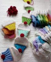 Colorful Cupcakes  Scarf (parts) by Ficklephonebug
