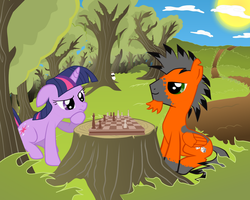 Contest: Loaded dice playing chess with Twi by ChocoMilkTerrorist