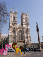 Cheese Sandwich and Pinkie Pie at Westminster by laopokia
