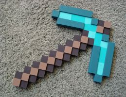 Minecraft Pickaxe by MischiefofRats