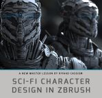 Sci-Fi Character Design In ZBrush -Teaser by sancient