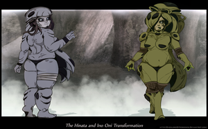 The Hinata and Ino Oni Transformation IV by Chronorin