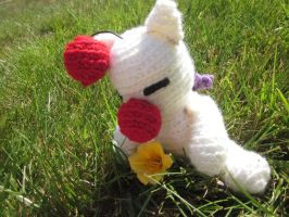 Moogle Amigurumi by TheDorkyDerpster