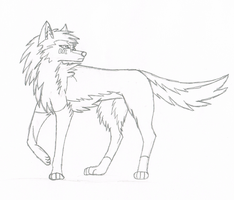 Wolf Practice Sketch by Misarou-Ina
