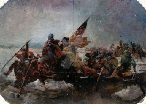 captain americas crossing the delaware by charles-hall