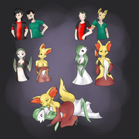Heating things a little bit with Delphox and Garde by Luxianne